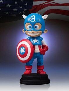 Captain America version Marvel Babies, tiré de l'édition variant Avengers vs X-Men, par le dessinateur Skottie Young.