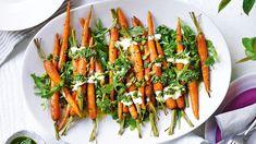 Vegetable Sides, Vegetable Recipes, Vegetarian Recipes, Homemade Pumpkin Seeds, Roast Dinner, Create A Recipe, Pesto Recipe, Roasted Carrots, Yummy Snacks