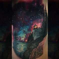 Little lighthouse space tattoo:) just put on the final touches. Mostly healed @inkjecta @inkfreakz @Inkedmag @inkjunkeyz @featured_ink @eternalink #inkedmag #inkjunkeyz #featured_ink #inkfreakz