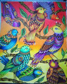 Done #hannakarlzon #dagdrömmar #coloringforgrownups #pencils #polychromos #kleurboeken #kleuren #kleurenvoorvolwassenen