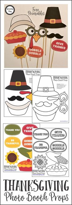 These FREE printables will create adorable photos of the kids and silly photos for the adults.  You can download the Thanksgiving Photo Booth Props for free.