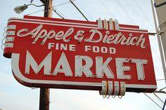 sign fine food market