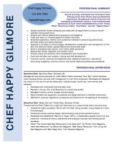 Executive Chef Resume Awesome Chef Resumes That Will Impress Your Future Company