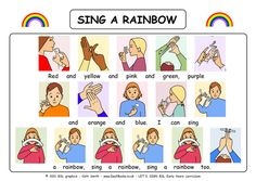 I Can Sign a Rainbow with BSL (British Sign Language) Signs