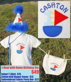 Boat Birthday Set    Visit www.facebook.com/PrincessWiggleBottom to see more!