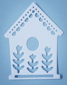 Bespoke die cut bird house card toppers / embellishments white 10pack