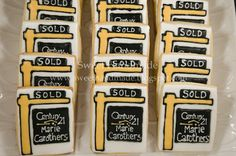 Sweet Handmade Cookies - Century 21 real estate sign cookies.