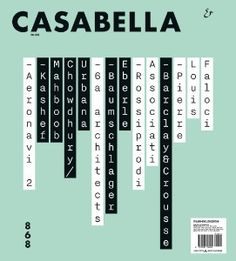 NEW ISSUE CASABELLA #868 DEC 2016 PRINT ARRIVED 19.12.16
