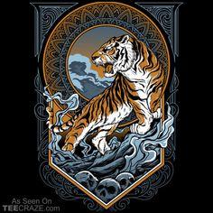 Panthera Tigris Balica T-Shirt Big Cats Art, Cat Art, Graffiti Wallpaper, Graffiti Art, Boxe Fight, Pelican Art, Art Deco Bar, Tiger Art, Lion Art