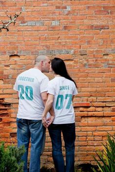 Couples TOGETHER SINCE custom t-shirt set of 2 wedding anniversary gift on Etsy, $39.99