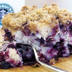 blueberry crumble coffee cake...my pregnant coworker all morning was talking about craving a berry cake.  This looks like a great option!  I know it's silly but I love to see a pregnant lady's eyes light up when she gets to eat what she is craving!