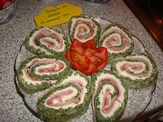 Rulada de spanac cu sunca si cascaval by Liliuta Watermelon, Food And Drink, Appetizers, Appetizer, Entrees, Hors D'oeuvres, Side Dishes, Snacks