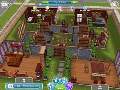 Pretty Awesome Sims Freeplay Peach Themed House Sim