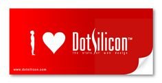 I ♥ Dotsilicon sticker. Visit our stall # 51 @ Digital World 2012 and collect yours.  Dotsilicon @ Digital World 2012.  BICC, Dhaka, Bangladesh. December 6,7 & 8, 2012.