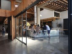 San Francisco Adventure / Sightglass Coffee  like the sliding door divider