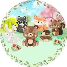 3d Paper Crafts, Paper Toys, Diy And Crafts, Baby Animals, Cute Animals, Kids Graphics, Baby Svg, Woodland Party, Cute Images