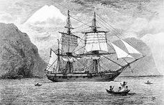 HMS BEAGLE - The ship used in the famous expedition by Charles Darwin