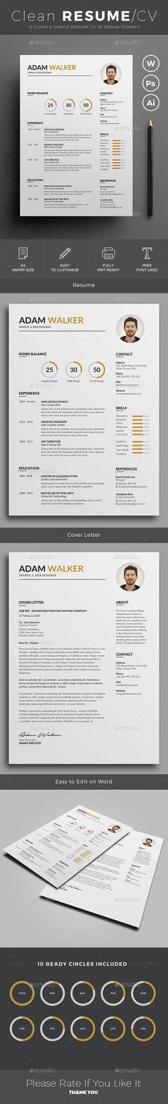 Resume\/CV - Blair Resume cv, Cv template and Template - easy resumes