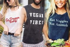 Regardless of your reasons for being vegan..top 10 list of vegan t shirt brands with various different messages! wear vegan t shirt...