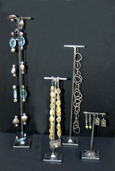 Natural Metal Jewelry Display T Stand