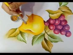 Acrylic Painting Techniques, Fabric Painting, Art Decor, Make It Yourself, Fruit, Floral, Youtube, Make Fabric Flowers, Diy And Crafts