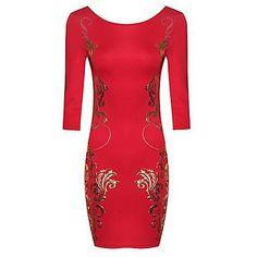 zoey vestido rojo estampado floral -  talla S – EUR € 14.84