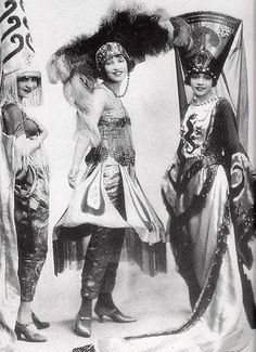 Three unidentified actresses from the original production of Shuffle Along, the first major successful African American musical, photo dated 1921.