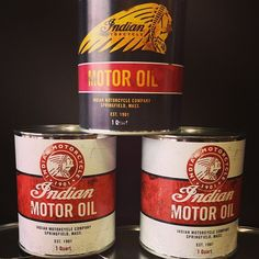 Indian Motorcycle Oil Cans