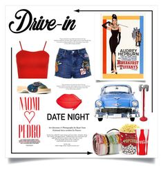"""""""Date Night. .. Drive In"""" by conch-lady ❤ liked on Polyvore featuring Naomi Campbell, Topshop, WearAll, Tweedmill, West Bend, Jessica McClintock, Marc Jacobs, DateNight, drivein and summerdate"""