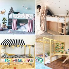 """""""for the end of 2017 here you are 10 awesome ikea kura bed hacks on the blo Ikea Bunk Bed, Bunk Beds, Boy Room, Big Girl Rooms, Cama Ikea, Bunk Bed Designs, Kura Bed Hack, Kid Beds, Kids Bedroom"""