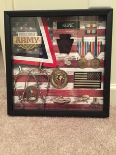 Army shadow box, military gift, DIY