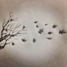Fall tattoo sketch by - Ranz