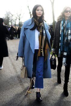 London blues LFW Street Style | /vestirelalma/