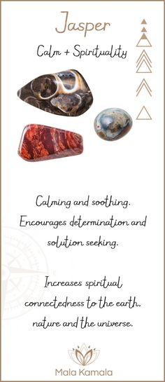 Jasper - What is the meaning and crystal and chakra healing properties of jasper? A stone for calm and spirituality.