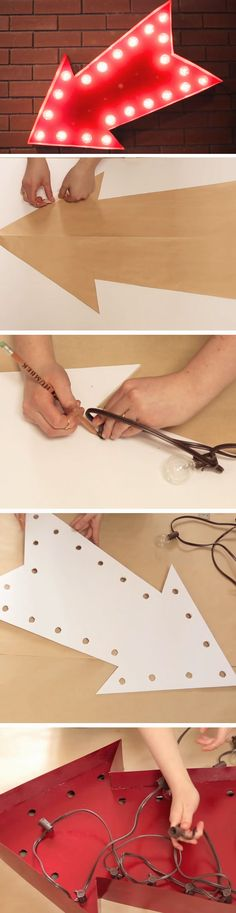 Marquee Arrow Sign | 19 DIY Movie Night Ideas for Teens that will get the party started!