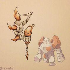 Pokemon weapon: Regirock. Not sure if an Axe or a Mace...