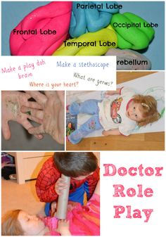 Fun science ideas to make learning fun with Doctor Role Play, includes making a stethoscope, making a fake lung, learning about the body and much more. Teaching Schools, Teaching Activities, Activities For Kids, Numeracy Activities, Teaching Ideas, Dramatic Play Area, Dramatic Play Centers, Play Based Learning, Fun Learning