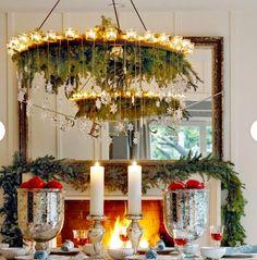 Candle Mantle Christmas Decoration Ideas