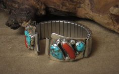 Stretch Bands, Watch Bands, Turquoise Bracelet, Watches For Men, Ms, Coral, Stones, Jewels, Sterling Silver