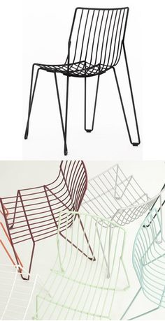 Stackable #metal #chair TIO by Massproductions | #design Chris Martin