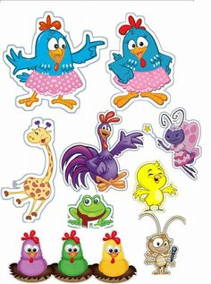 Peppa Pig Stickers, Lottie Dottie, Rooster Painting, Image Fun, Printable Stickers, Silhouette Projects, Candy Colors, Cake Toppers, Alice