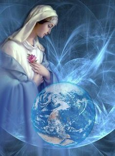 Queen of Heaven and Earth Blessed Mother Mary, Divine Mother, Mother Goddess, Blessed Virgin Mary, Catholic Art, Religious Art, Queen Of Heaven, Mama Mary, Sainte Marie