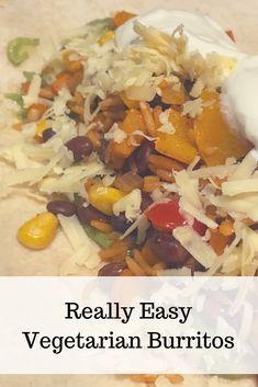 easy burritos, veget
