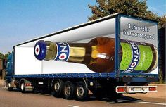 Truck Art - optical illusions are being put to commercial use by graphic designers in the world of advertising