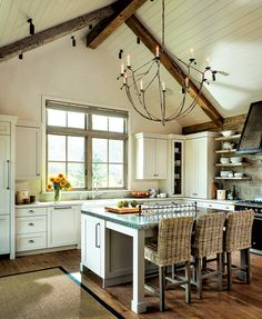 Rustic kitchen ideas - Kitchen - rustic l-shaped dark wood floor kitchen idea in. Rustic kitchen ideas – Kitchen – rustic l-shaped dark wood floor kitchen idea in…, Kitchen Rug, Kitchen Fittings, Rustic Kitchen, Kitchen Remodel, Kitchen Design, Kitchen Flooring, Wood Floor Kitchen, Farmhouse Style Kitchen, Kitchen Styling