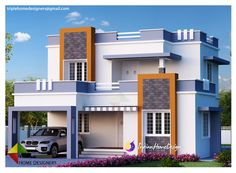india house front elevation designs using entrance door decoration ideas india and paint house siding cost for modern house design 2019 - Best Home Interior Design Indian Home Design, Independent House, Front Elevation Designs, House Elevation, House Front Design, Modern House Design, Car Porch Design, New Home Designs, Home Design Plans