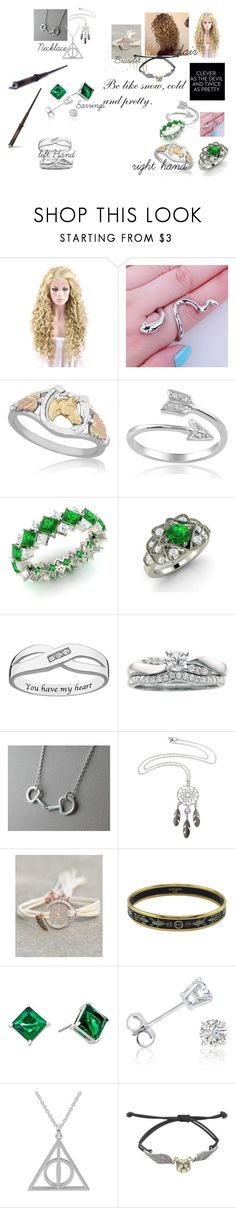 """Lucida Belle Malfoy"" by anni3hi3 ❤ liked on Polyvore featuring Journee Collection, Diamondere, Hermès, Lauren Ralph Lauren, Amanda Rose Collection, Warner Bros., Phelan, harrypotter, Malfoy and ilvermorny"