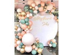 Balloon Arch, Balloon Garland, Balloon Decorations, Birthday Party Decorations, Balloon Ribbon, Elegant Party Decorations, Tassel Garland, Party Themes, Gold And Pink Balloons