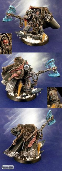 Freehand, Logan Grimnar, Space Marines, Space Wolves, Terminator Armor, Wolf Lord - Logan before acension to Great Wolf - Gallery - DakkaDakka