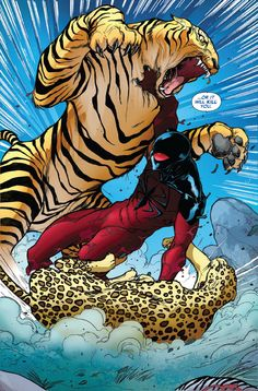 Scarlet Spider vs. Tiger